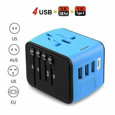 Universal Travel Adapter  with 2.4A USB and 3.0A USB Type-C Charger