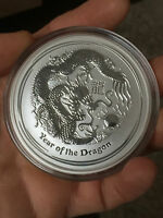 5 oz Lunar II Jahr des Drache Year of the Dragon 999 Silber Silbermünze Münze