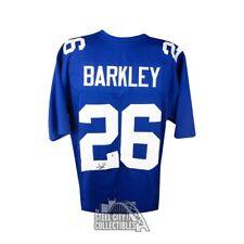 Saquon Barkley Autographed New York Giants Custom Blue Football Jersey - BAS COA