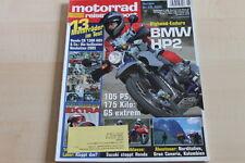 152026) BMW HP 2 - Yamaha MT-01 - Motorrad Reisen Sport 05/2005