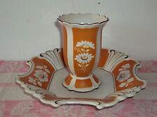 Stadtilm -thüringer porzellan-vase + schale-teller