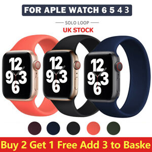 Solo Loop Strap Band for Apple Watch Series 6 5 4 3 2 1 SE Size XS SM ML XXL