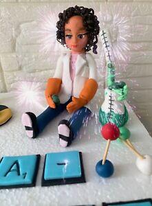 EDIBLE Scientist Chemist Doctor Cake Topper Decoration.