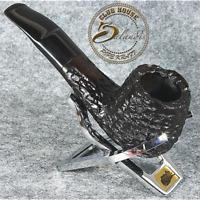 BALANDIS EXCLUSIVE HAND MADE - CARVED BRIAR wood smoking pipe black * OMEGA *