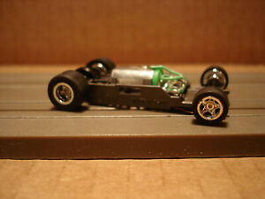 TOMY AFX H.O. SCALE MEGA G+ 1.7 NARROW CHASSIS WITH CHROME RIMS SEE DETAILS