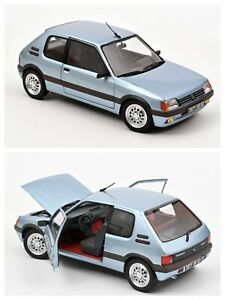 1/18 NOREV Peugeot 205 Gti 1.6 1988 Topaz Blue Shipping Home End July