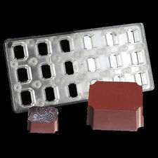Rectangle Rectangular Polycarbonate Magnetic Candy Mold Hard PC Chocolate Moulds