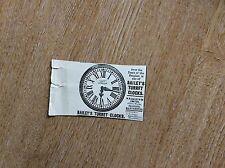 m7-1 ephemera 1900 advert bailey's turret clocks w h bailey & co