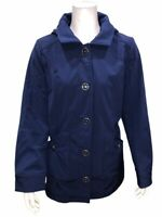Isaac Mizrahi Women's Soft Shell Jacket with Detachable Hood Navy Medium Size