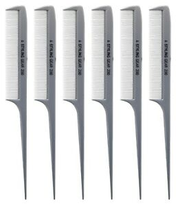 Styling Gear 200 Rat Tail Combs Hair Stylist 8.5 In. Large Fine Teeth RattaiL 6P