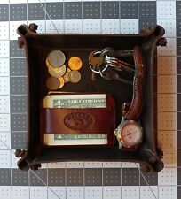 HAND MADE PREMIUM  LEATHER Valet tray, coin & key tray,Groomens gift