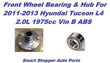 Front Wheel Bearing & Hub For 11-13 Hyundai Tucson L4 2.0 4WHL ABS-Left or Right