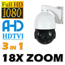 Speed Dome 18X Zoom PTZ CCTV Appareil photo hybride 3IN1 dispositifs antimanipulation TVI CVBS nocturne outdoor