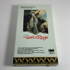 Lord of the Rings VHS SP HBO Video slipcase 1978 Animated Ralph Bakshi Cartoon