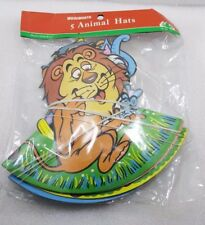 WOOLWORTH VINTAGE PARTY 5 ANIMAL HATS NEW & SEALED 69P PACKET  *RARE