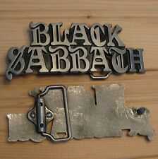 Black Sabbath music belt buckle
