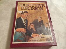 "Vintage 1971 3M Bookshelf Game ""Executive Decision"" Business Management Complete"