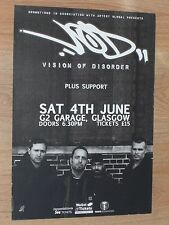 Vision Of Disorder - Glasgow june 2016 tour concert gig poster