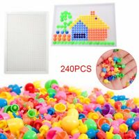 NEW Children Puzzle Peg Board 240 Pegs For Kids Educational Toys Creative Gifts