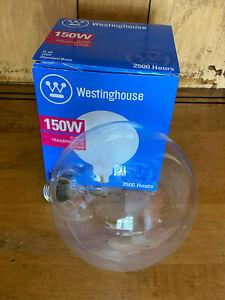 "WESTINGHOUSE G-40 Clear 150W Light Bulb 120V Incandescent 2500 Hours 5"" 03104"