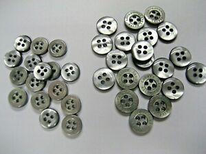 Lauren Ralph Lauren Replacement Shirt Buttons in Smoke 8.5 mm & 10 mm. NEW 10pcs