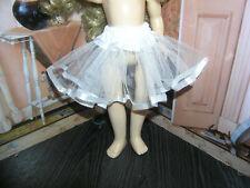 "White Nylon Net Slip Petticoat Crinoline 14"" Doll clothes fits Ideal Toni P-90"