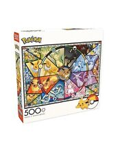 New Pokemon Puzzle Eevee Evolutions Pikachu 500 pcs By Buffalo Games 🧩