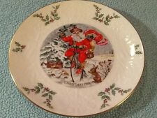 "Royal Doulton English Christmas Plate 1982 8.25"" Plate Embossed 6th in series"