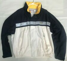 Vintage 1990s Nautica Competition Windbreaker Jacket XL W/ Hood Reflective