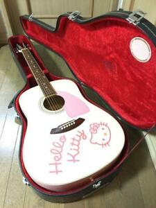 Fender Squier Hello Kitty Pink Used With Hard Case from Japan