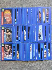 WWF CLASSIC WRESTLING SUPERSTARS 1991 TRADING CARDS BLUE BORDER HASBRO WCW WWE