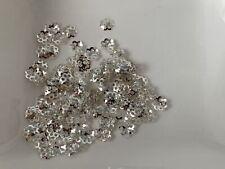 100 filigrane Perlkappen Perlenkappen 6 x 5 mm silber Spacer Schmuck  B32