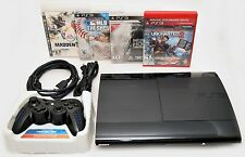 Sony Playstation 3 Super Slim 500GB Game Console System Bundle PS3 Madden MLB 11