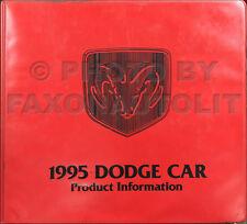 1995 Dodge Color and Upholstery Dealer Album Viper Stealth Neon Caravan Etc.