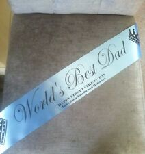 Personalised Fathers Day Banner Worlds Best Dad Happy Father's Day