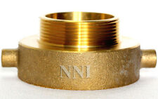 Nni Fire Hydrant Pin Lug Brass Adapter 2 12 Female Nst Nh X 2 Male Npt Ipt