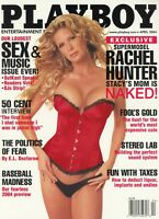 PLAYBOY APRIL 2004 Rachel Hunter Krista Kelly Rapper50Cent KevinSmith naked DJs