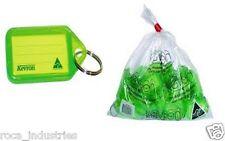 Kevron Key Ring Tags - Green - Bag of 50 Tags