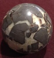 "4"" SEPTARIAN Sphere Stone/Nodule Rock Polished Sometimes Called DRAGON Stone"