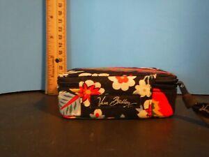 Vera Bradley Pill Case. Flower Leaves. Travel Size Organizer - Black/Multi Color