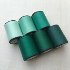 Green Color shades 6 Spools Sewing Thread All Purpose Spun Polyester 600 Yards