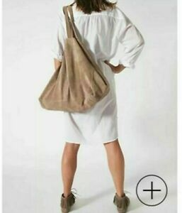 SASSIND All Leather Suede Carry All Tote Bag RRP $399