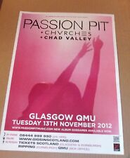 PASSION PIT + CHVRCHES - live show nov 2012 promotional tour concert gig poster