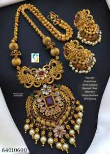 Indian Women Necklace Set Gold Plated Designer Wedding Jewelry Fashion Gift