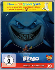 FINDET NEMO 3D & 2D 2-DISC BLU-RAY STEELBOOK NEU & OVP SEALED PIXAR FINDING NEMO