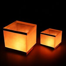 Pack of 20 Water Floating Candle Lanterns Outdoor Biodegradable Lanterns for ...