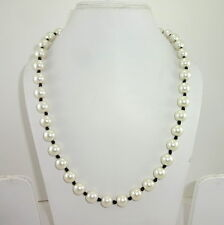 NATURAL FASHION PEARL GEMSTONE BEADED NECKLACE  86GM.