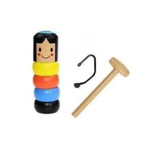 Immortal Magic Stubborn Wood Man Funny Wooden Magic Toy Unbreakable JA