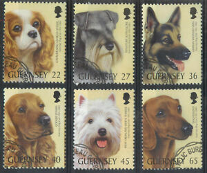 Guernsey 2001 Centenary of Dog Club set SG 895-900 used  *COMBINED SHIPPING*