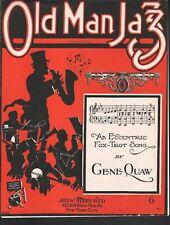 Old Man Jazz 1920 Sheet Music